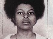 Mugshot taken of Assata Shakur, taken following her arrest.