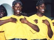 Identical twin brothers Deon and Ian Baptiste, of the musical-drama group Jeunes Agape. Ian (left) was the recipient of Deon's blood donor stem cells in a successful transplant procedure conducted by the United States National Institutes of Health.