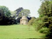 English: Temple of Ancient Virtues Stowe Gardens. I was in a motorized wheel chair during this visit, so all images had to be taken from the paths.