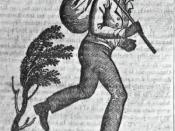 A common image used in runaway slave ads.