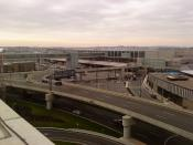 English: Terminal E, at Boston's Logan International Airport.