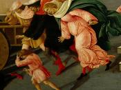 [ B ] Sandro Botticelli - Last Miracle and the Death of St. Zenobius (c.1500) - Detail 2