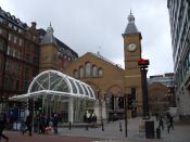 Entrance to Liverpool Street railway station on Bishopsgate