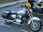 Silver Honda Shadow