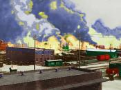 Colorized image from the Tulsa Race Riot.
