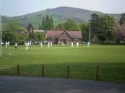 A cricket match in progress at Ruthin School, 28 April 2007