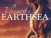 The dragon Yevaud on the cover of Ursula K. Le Guin's A Wizard of Earthsea.