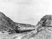 The Culebra Cut in December, 1904, after the French handover