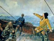 Christian Krohg's painting of Leiv Eiriksson discover America, 1893