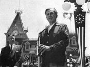 Walt Disney giving the dedication day speech July 17, 1955.