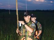 English: Picture of two Civil Air Patrol members using an en:ELT homing device known as an L-Per