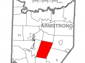 A map of Armstrong County showing Kittanning Township, Pennsylvania (alternate) highlighted on the map.