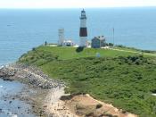 English: Montauk Point Lighthouse August 2008.
