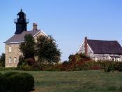 English: OLD FIELD LIGHTHOUSE, LONG ISLAND, NY