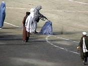 The November 1999 public execution of Zarmeena, a convicted Afghan woman for murdering her husband in cold blood with an ax while he was asleep. The execution was carried out by the Taliban inside the Ghazi stadium in Kabul, Afghanistan. It has been filme