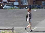 Folkestone - July 2010 - Shorts Candid with Wife Trying To Get My Attention