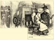 Tituba and Mary Walcott, illustration by John W. Ehninger