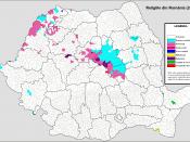 Română: Harta religiilor (2002).
