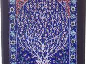 English: Blue Turkish Tiles in Frame