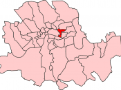 Map of Whitechapel District within the Metropolis