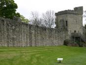 Pickering Castle, Defensive wall and tower