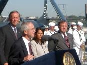 George Pataki at the USS New York, November 15, 2007.