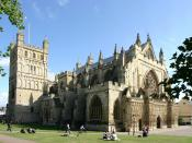 English: Exeter Cathedral, dedicated to Saint Peter