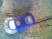 An inexpensive children's walkie-talkie.