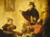 Joseph interpreting the dreams of the baker and the butler, by Benjamin Cuyp, ca. 1630.