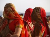 English: Veiled Indian Women