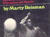 Marty Reisman c early 1950s on the cover of his autobiography