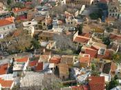 English: Athenian Rooftops:I took this shot in the morning from the Acropolis in Athens, Greece. I saturated the image a bit to make it look like it did to my eye.