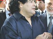 Footballer Diego Armando Maradona.