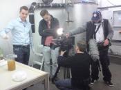 "Saniresch shooting for children's television programme ""pur+"""