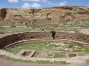 English: An image of the ruins of Chetro Ketl in Chaco Canyon (New Mexico, United States); shown is the complex's great kiva. Deutsch: Das Foto zeigt die große Kiva des Komplexes Chetro Ketl im zum Weltkulturerbe zählenden Chaco Culture National Historica