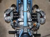 1967 BMW R50/2 flat-twin engine, with tank removed. Photo © by Jeff Dean