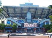 Front View Of Arthur Ashe Stadium During The 2007 US Open