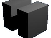 English: Blender camera example—narrower angle