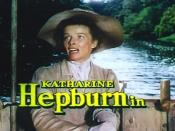 Screenshot of Katharine Hepburn from the trailer for the film The African Queen.