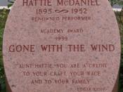 Memorial marker for Hattie McDaniel at Hollywood Forever Cemetery