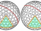 two very similar icosahedron golf ball designs.