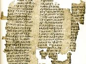 English: A 3rd century CE papyrus attributed to Antiphon' Peri aletheias Bk. I