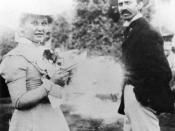 English: Cora Taylor Crane with author Stephen Crane