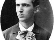 English: The image of Nikola Tesla (1856-1943) at age 23.