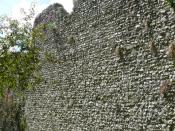 English: City Walls, Winchester. Saxon and medieval work on Roman foundations.