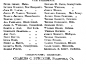 officers for 1860-1861 of the American Anti-Slavery Society. Includes Francis Jackson, Charles Follen, Charles Burleigh and others.