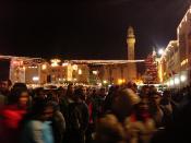 Christmas Eve 2006 in Manger Square in Bethlehem.