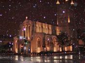 Trinity Church during Houston's 2004 Christmas Eve Snowstorm