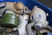 English: Gas masks for children.
