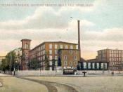 English: Plymouth Avenue, showing Granite Mills, Fall River, MA